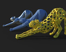 Cheetah sculpture 3D print model