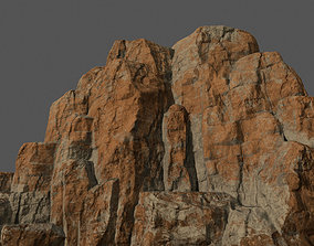 Mountain sand 3D model game-ready