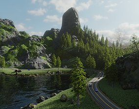 3D model Highway Scene