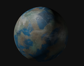 3D Terran Planet 02 - 4K