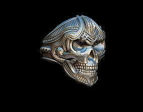 old 3D printable model Skull ring