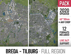 3D asset Breda and Tilburg - city and surroundings
