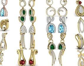 300 Women earrings 3dm render detail bulk