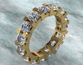 3D printable model Luxury Full Round Diamond Ring