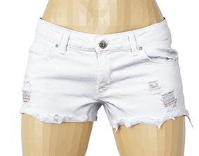 Shorts White jeans Clothing Women 3D model