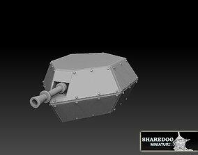 Tank Box Gun Turret 3D print model