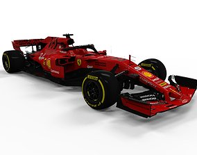 3D asset realtime Ferrari F1 2019 SF90