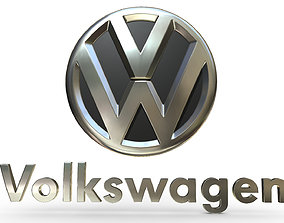 3D volkswagen logo