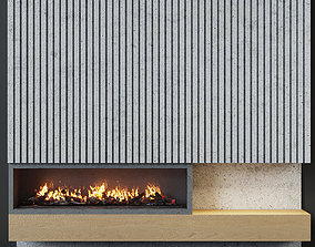 Fireplace modern 20 3D