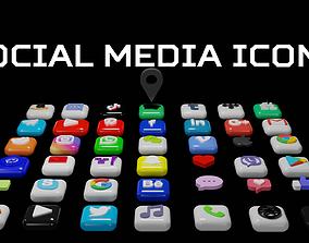 3D SOCIAL MEDIA ICONS realtime