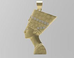 Nefertiti Pendant - Egypt - Jewelry - 3D printable model