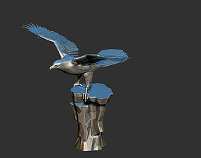 Eagle Sitting on a Cliff - 3D Print