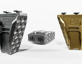 3D asset low-poly Railscales Anchor MLOK Vertical Grip