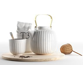 3D model Hammershoi Tea Set with Bamboo Strainer