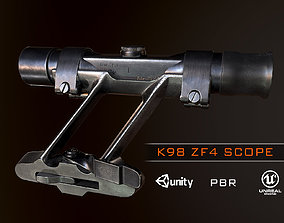 3D model K98 ZF4 German Scope WW2 PBR