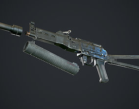 Bizon PP19 gameready rigged 3D asset