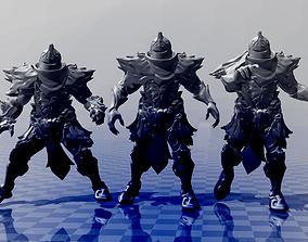 3D printable model Necro Knight Blockers - Blood Bowl