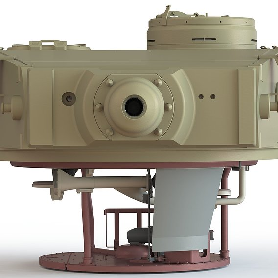 High detail model of Tiger's tank turret with interior
