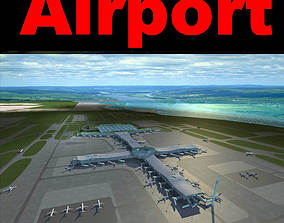 Airport Cross Form 3D