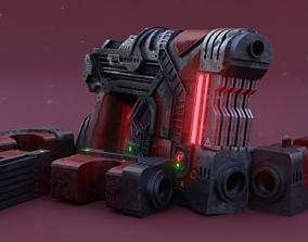 Sci-fi Heavy Handgun 3D