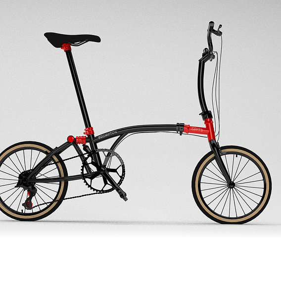 Brompton chpt3 bicycle 3d max modelling with vray render