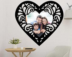 Heart Frame 3D print model
