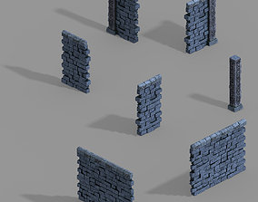3D model Zhentian Palace-Wall 1
