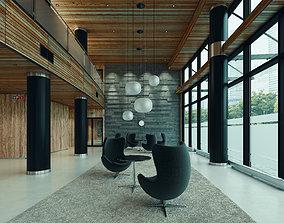 Lobby Hall Lounge Foyer Hallway Scandinavian 3D model