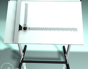 3D model Drafting table 01
