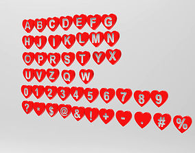 3d model Letters love shape