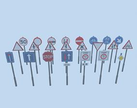 3D asset Dutch Traffic Signs