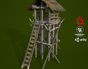 3D asset Game Ready Look out Tower D180328