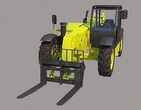 CAT TH83 Telescopic forklift Vray PBR 3D