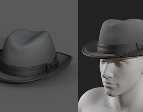 3D asset Hat human protection classic Generic cape cloth