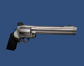3D asset Low Poly 500 Revolver