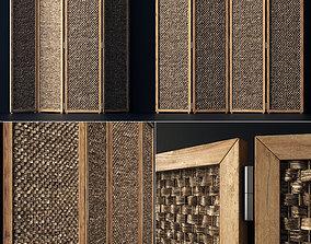 Wood screen decor n1 3D model partition