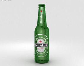 3D Heineken Beer Bottle