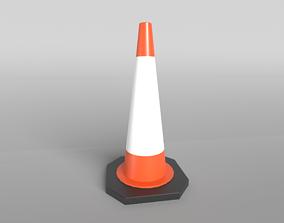 3D asset Conical Road Sign v1 002