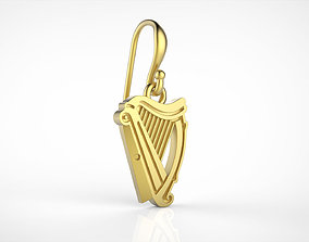 3D print model Guinness logo earring