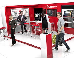 Vodacom Mobile Exhibition stand for trade shows 3D model