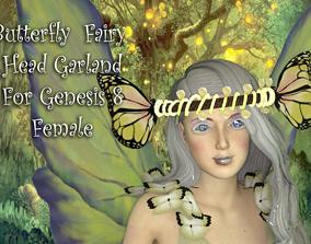 3D Butterfly Head Garland