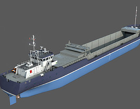 General Cargo Ship DAMEN COMBI COASTER open bay 3D