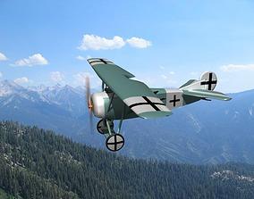 Fokker DVIII V09 3D model