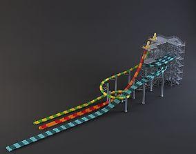 3D model water Park slides 8