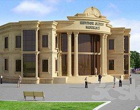 3D print model commercial building
