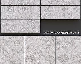 Keros Decorado Medina Gris 3D model