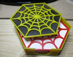 Spiders Web Coasters 3D printable model