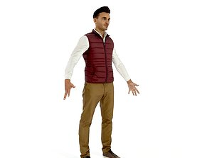 3D model Business man in a dark vest