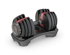 3D Bowflex SelectTech 552 Adjustable Dumbbells