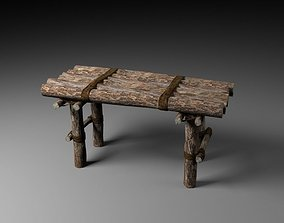 3D model game-ready Old Table